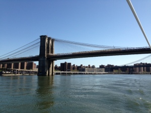 The Brooklyn Bridge, an engineering feat when built around 1880 - one of the man-made wonders of the world