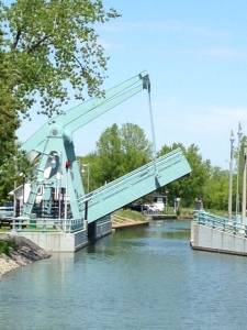 One of 7 very low drawbridges along the Chambly Canal - this was my favorite