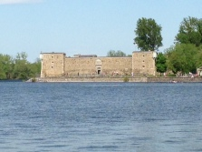 The fort in Chambly, Quebec in the Richelieu River