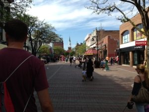 A view down Church Street, the pedestrian mall in the heart of the City