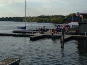 The City Docks and restaurant overlooking Lake Champlain
