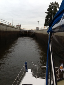 Entering lock 2 on the Champlain Canal