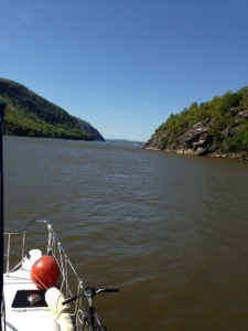 Spectacular views motoring up the Hudson River