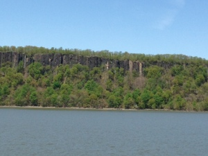 The Palisades along the Jersey side of the Hudson