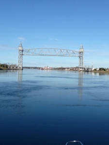 Leaving the Cape Cod Canal after the Railroad Bridge early on a calm morning a couple days later