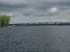 The Rouses Point Bridge linking Vermont and NY - we entered Quebec shortly after passing beneath the bridge