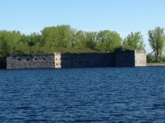 The fort at Rouses Point on the NY side, just north of the bridge