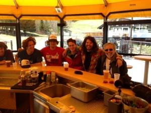 skiing - at bar