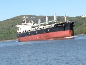Tankers and large commercial ships were frequent obstacles and spectacles as we motored up the Hudson