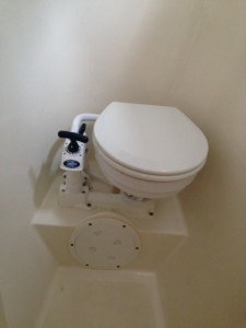 "Our new ""man-sized"" toilet"