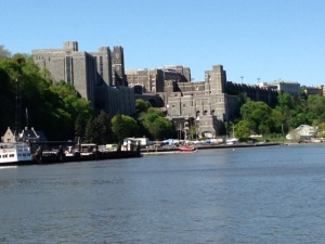 West Point as seen from the Hudson River was an inspirational sight