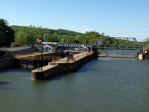 Lock 12 in Whitehall, which separates the Champlain Canal from Lake Champlain