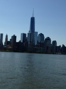 The new World Trade Center 0 an awesome sight from the harbor