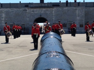 A visit to Fort Henry provides a continuous series of re-enactments, including marching drills with the band, actual firing of one of the cannons, and other full-dress re-enactments