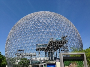 The biosphere - the dome is dramatic and impressive