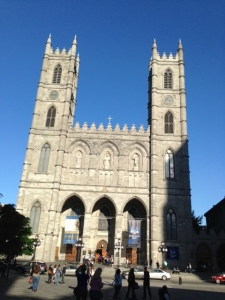 Notre Dame Cathedral in the Old City in Montreal