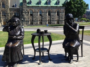 The other two women in the sculpture