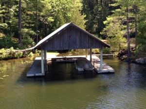 A boathouse on one of the lakes in the Rideau