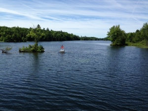 Entering one of the lakes on the lower Rideau Canal