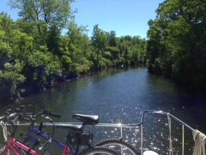A narrow cut along the Rideau Canal