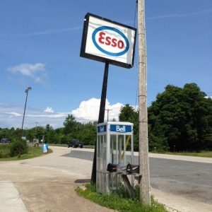Time is a bit behind on Manitoulin Island - when is the last time you saw an Esso sign OR and phone booth?
