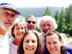 "A ""selfie"" from the top of the ridge - left to right, Paul, Chrissie, Trish, Jim, Jim K, and Pat"