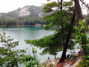 After a 20 minute hike, Topaz Lake comes into view -