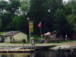 The Bensfort Bridge Resort - notice, in particular, the Confederate flag prominently displayed