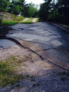 The first 50 feet or so of this driveway is simply exposed bedrock
