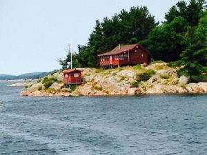 or here (even in the little house at the water's edge)....