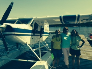 They made it back safely!  Pat made a perfect water landing