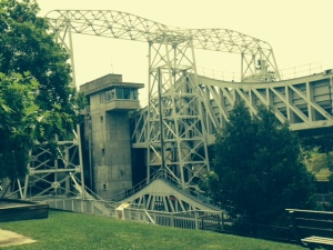 The massive structure that is part of the lift lock