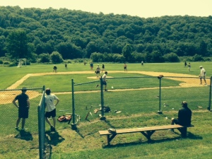 An afternoon softball game provides some great entertainment each year