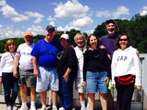 Our crew of eight - from left to right: Red Southerton, Bill Burke, Kathy Burke, Jim Koningisor, Trish Koningisor, Paul Coates, Pat Coates