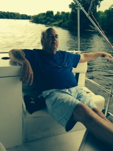 "Earning ""Mariner of the Year"" is hard work - Bill resting up after the rigors of mastering his trade"