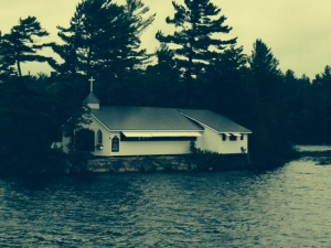 These folks take the boating lifestyle to a new level - this church is on a small island in Stoney Lake, accessible only by boat. I wonder how well-attended the service is on a rainy Sunday morning