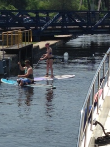 We shared one lock with three paddleboarders