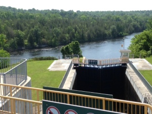 The view looking backwards from the top of locks 11&12