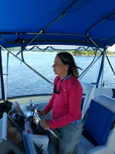 Trish with a steady hand on the helm