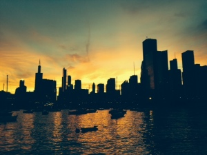 A glow over the City -