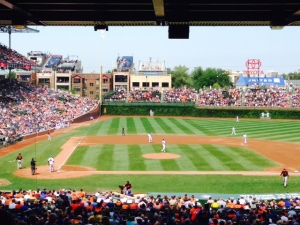 Wrigley Field - a great place to watch a ballgame, very reminiscent of Fenway Park