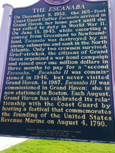 The Escanaba has a personal interest for Trish and her family - her uncle was stationed on the Escanaba in World War II and was lost at sea when she was sunk