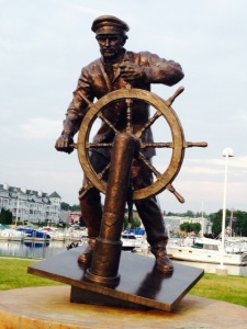 A sculpture dedicated to the fishing heritage of Ludington
