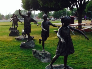 This sculpture is dedicated to the children, recognizing that the children are the future of Ludington