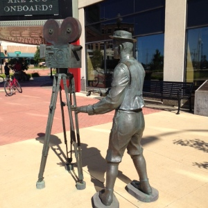 Muskegon has a large Performing Arts Center, and this sculpture is a tribute to film-making