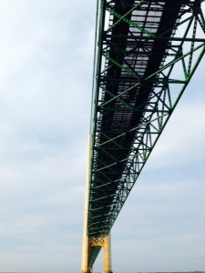 The center span of the bridge