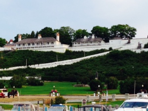 Fort Mackinaw as seen from the harbor
