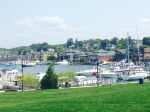 Charlevoix Harbor as seen from the waterfront park