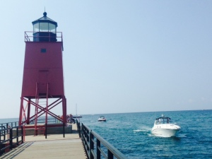 This iconic and well-known lighthouse on the end of the jetty welcomes visitors entering the harbor