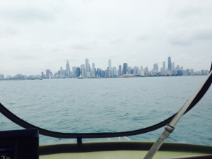 We're now about a mile from the breakwater that serves as the entrance to Chicago's main harbor